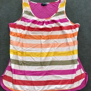 The Limited Striped Blouse Tank Top Cami Large